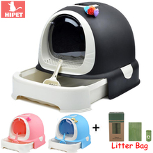 Large Cat Litter Box Tray Indoor Closed Anti-splash Drawer design Pet Toilet Enclosed Cute Small Sandbox With Scoop