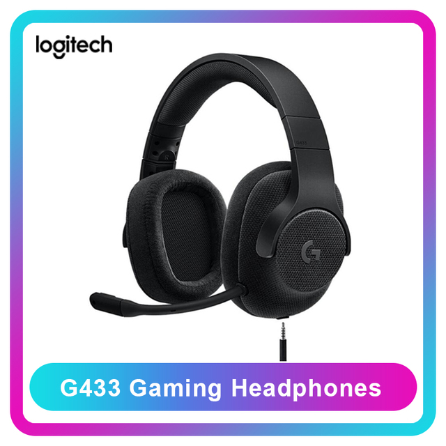 Original Logitech G433 Professional Gaming Headsets Wired Headphones 7.1 Surround with MIC for All Gamer PC PS4 PS4 PRO Nintendo