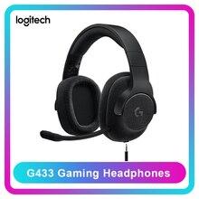 Original Logitech G433 casque de jeu professionnel casque filaire 7.1 Surround avec micro pour tous les PC Gamer PS4 PS4 PRO Nintendo