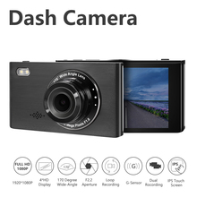 4'' Three Way Car DVR FHD two Lens Video Recorder Camera 170 Wide Angle Dash Cam G-Sensor And Night vision Camcorder