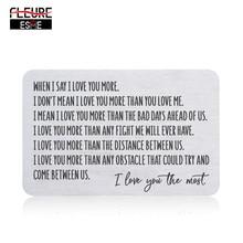 財布用のカードを挿入男性夫から妻のガールフレンドの誕生日バレンタイン結婚記念日のギフトのための新郎彼