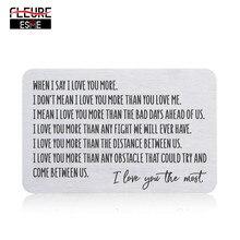 Brieftasche Einsatz Karte für Männer Mann Von Frau Freundin Geburtstag Valentinstag Hochzeit Jahrestag Geschenke für Bräutigam Ihn