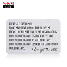 Wallet Insert Card for Men Husband From Wife Girlfriend Birthday Valentine Wedding Anniversary Gifts for Groom Him
