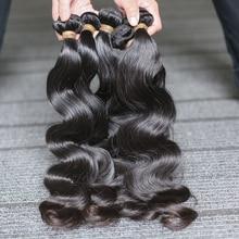 Роза Красота Необработанные перуанские волнистые натуральные волосы 3 пучка 100% человеческие волосы для наращивания 8 30 28 дюймов Бесплатная доставка