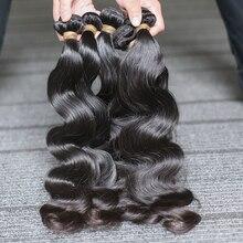 Rosa Schönheit Unverarbeitete Peruanische Körper Welle Reines Haar 3 Bundles 100% Menschenhaar Verlängerung 8 30 28Inch Versand freies