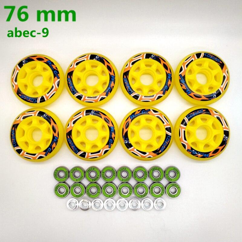 Free Shipping Roller Wheel Skate Wheel 82 A Bearing Abec-9