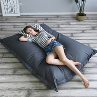 140x180cm Bean Bag Chair Sofa Cover Lounger Chairs Sofa Bed Beanbag Pouf Puff Couch Tatami Ottoman Seat Bedroom Furniture