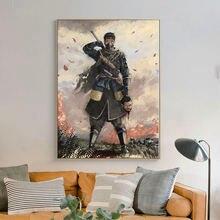 Плакаты и принты из игры призрака цушимы настенные художественные