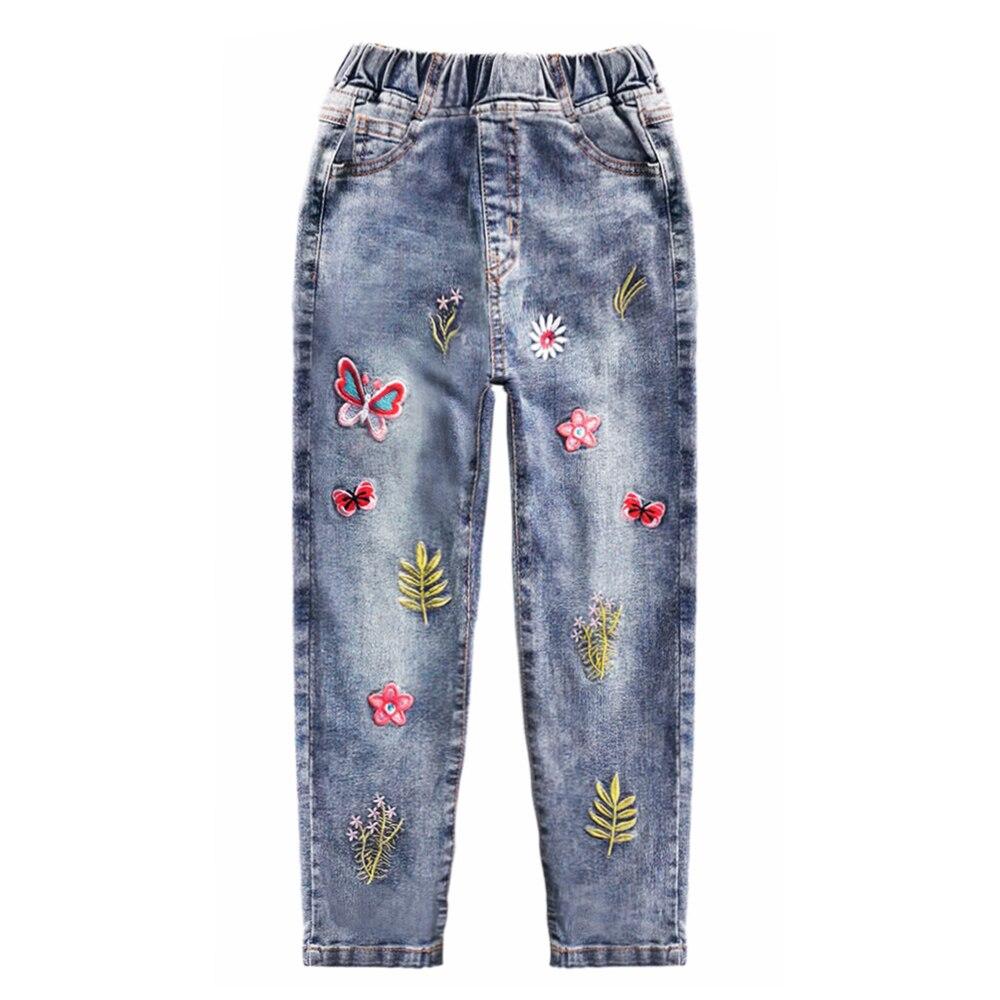 Chumhey meninas calças de brim primavera 100%