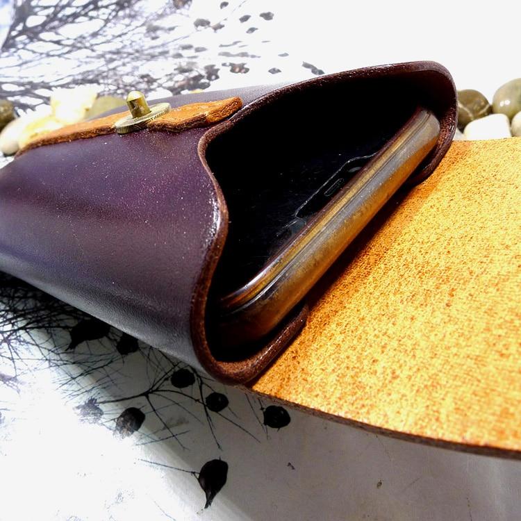 genuíno bolsa do telefone cintura pacote cinto