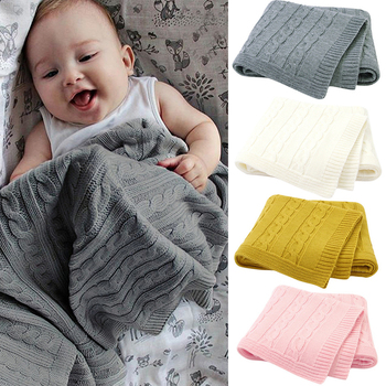 2020 Baby Blanket Knitted Newborn Swaddle Wrap Soft Toddler Sofa Crib Bedding Quilt Winter Autumn Basket Stroller Blankets baby blankets newborn flannel swaddle wrap blanket super soft toddler infant bedding quilt for bed sofa basket stroller blankets