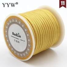 8m/Spool 3mm Nylon Thread Nylon Cord Durable Diy Cord Diy Bracelet Necklace Waxed Thread Jewelry High Quality Jewelry Craft(China)