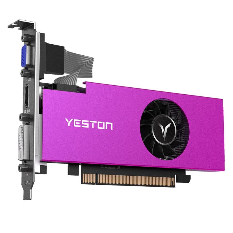 Yeston Radeon Single Slot RX550 4GB GDDR5 PCI Express 3.0 DirectX12 Graphics Card VGA+HDMI+DVI-D Graphics Card Of Desktop