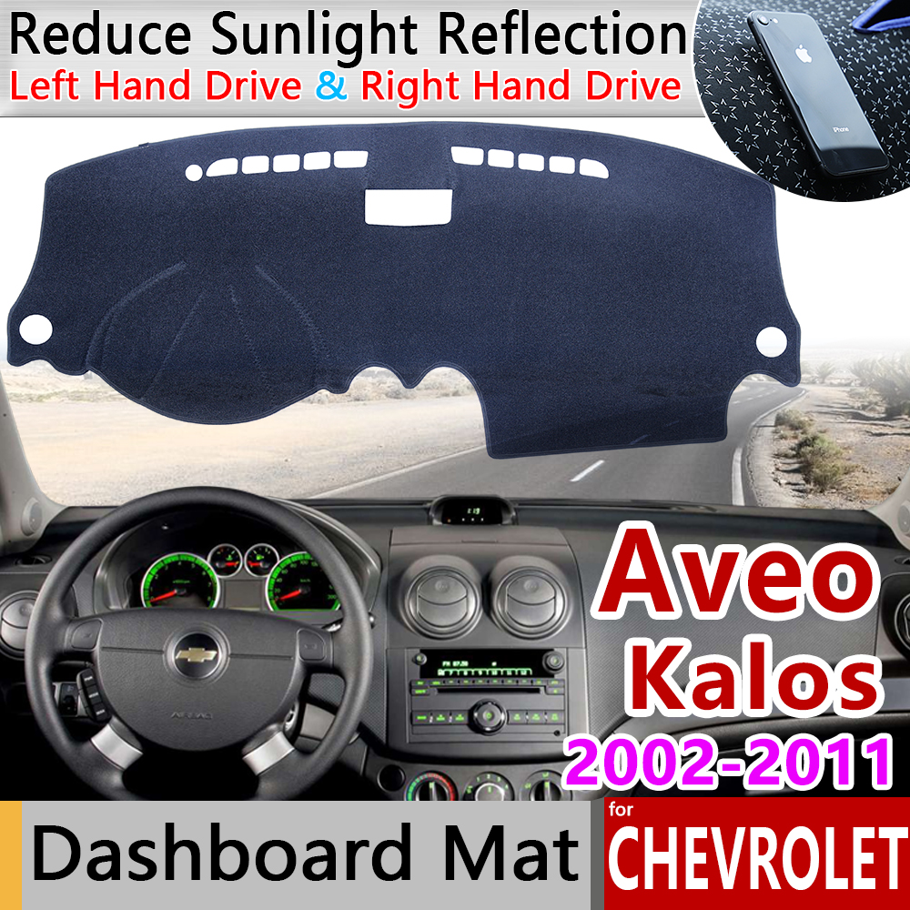 for Chevrolet Aveo Kalos Lova Gentra Pontiac G3 2002 2011 Anti-Slip Mat Dashboard Cover Pad Sunshade Dashmat Cape Accessories