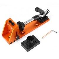 Carpenter Kit System Geneigt Tasche Loch Bohrer Bohren Locator Clamp Basis Holzbearbeitung Werkzeuge-in Bohrkronen aus Werkzeug bei