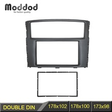 Için çift Din fasya Mitsubishi Pajero Shogun Montero radyo DVD Stereo paneli Dash montaj kurulum kiti Trim yüz çerçeve