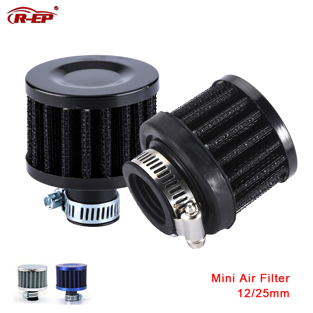R-EP Universal 12mm 25mm Car Air Filter for Motorcycle Cold Air Intake High Flow Crankcase Vent Cover Mini Breather Filters