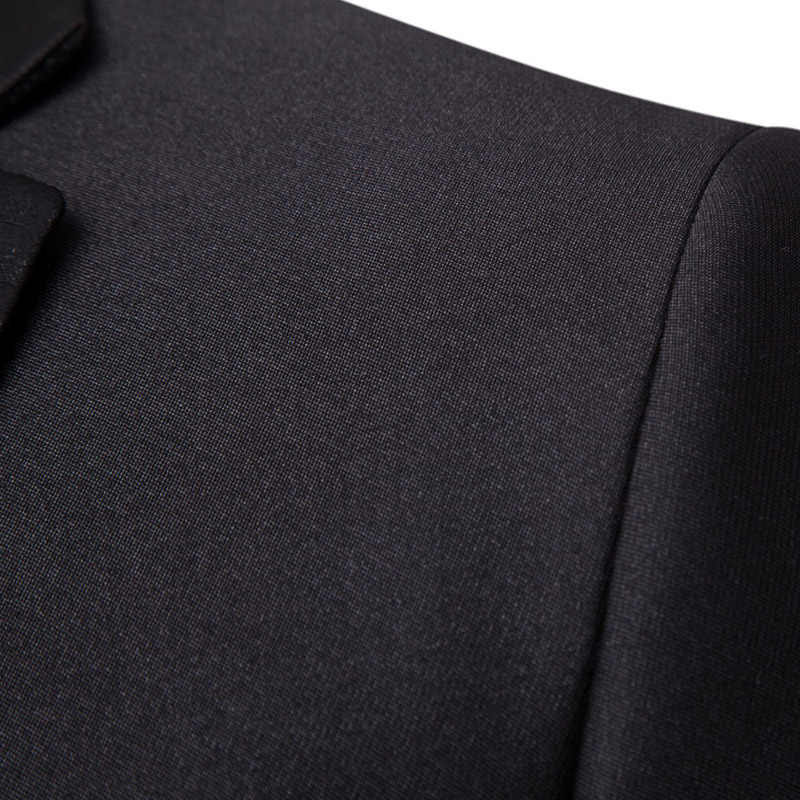 Mens Black Suit Formal Business Work Two Piece Suit Men Slim Fit Two Buttons Party Tuxedo Bridegroom Wedding Suit For Best Men