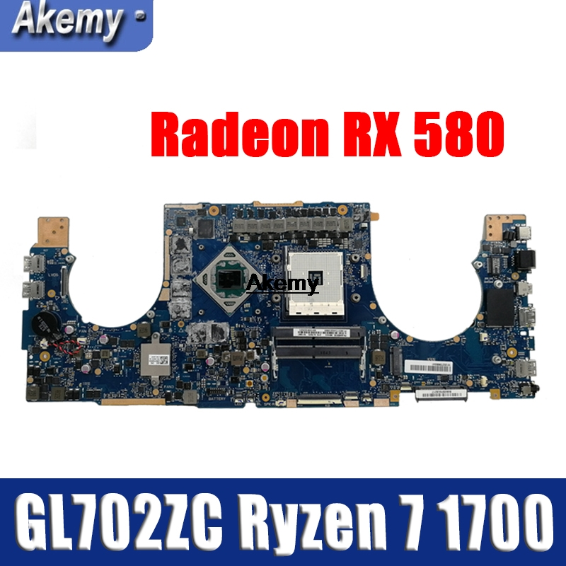 GL702ZC Motherboard Ryzen 7 1700U  Radeon RX 580 For ROG ASUS S7ZC GL702ZC Laptop Motherboard GL702ZC Mainboard (Exchange)! !