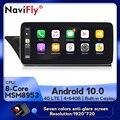 NaviFly Android 10,0 автомобильный мультимедийный плеер для Audi A5 A4L B8 2009-2016 GPS навигация API29 IPS 1920*720 DSP беспроводной Carplay
