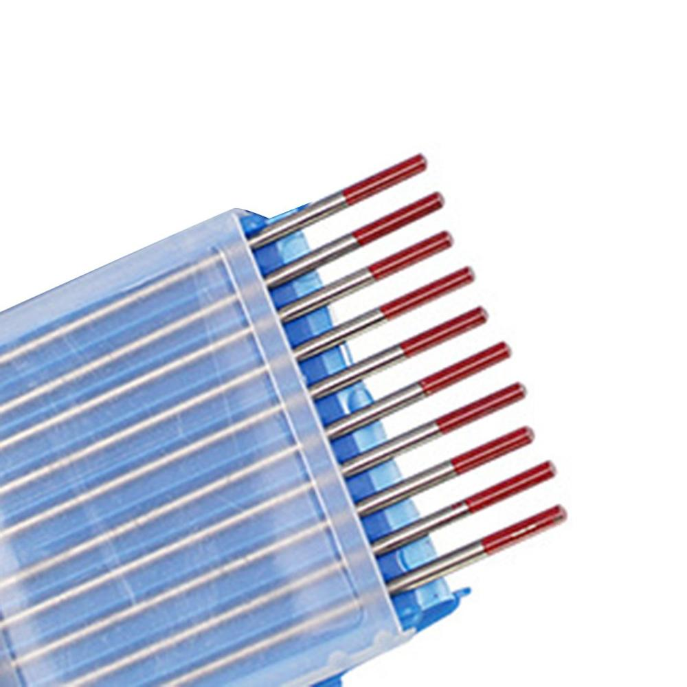 10pcs/Box WT20 Red Color Thorium Tungsten Electrode Head Tungsten Needle/rod For Welding Machine