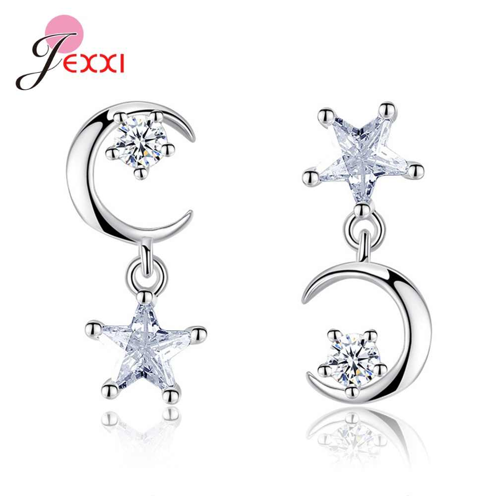 Cool Statement 925 Silver Earrings Decoration Ornament Sterling Silver S925 Jewelry Moon/Star Cubic Zircon Hot Sale Merchandise