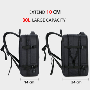 Image 3 - 30L חלל גדול Mens 17 אינץ מחשב נייד תרמילי USB טעינת זכר עמיד למים נסיעות המוצ ילה רב שכבה גבוהה קיבולת Bagpack