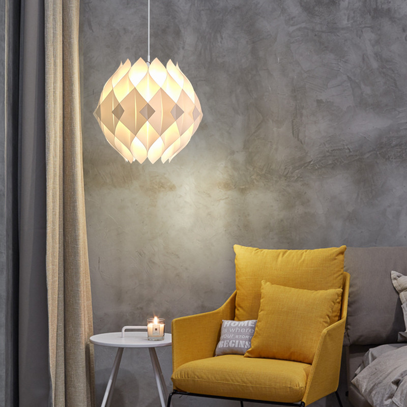 DIY Puzzle Pendant Lamp E27 Pendant Light Cafe Living Room Restaurant Ceiling Room Decoration LED Hanging Lamp