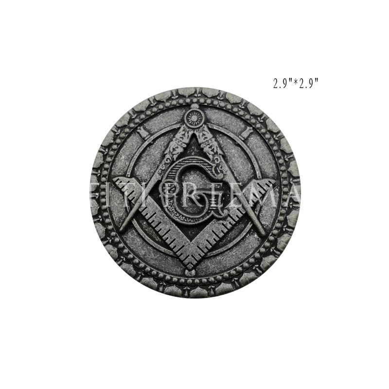 Masonic Masonry Round Metal Sticker Luggage Decoration Sticker Car Truck Multi Motorcycle Decal Badge Sticker With Red Adhesive