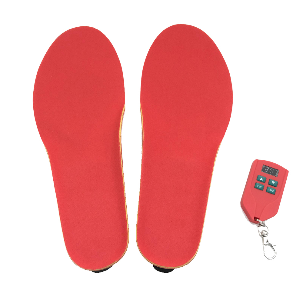 Electric Heated Insole Foot Warmers For Blood Circulation Rechargeable Heating Insoles, Heated Insoles Foot Warmer Kit With Wireless Remote Control