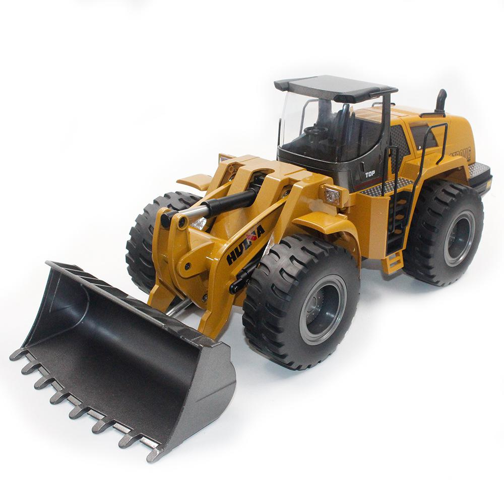 1:10 RC Car Full Functional Remote Control Front Loader Construction Tractor Metal Bulldozer Toy Can Dig up