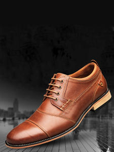 YIGER Dress-Shoes Handmade Big-Size Genuine-Leather Men's New Male Lace-Up 0249