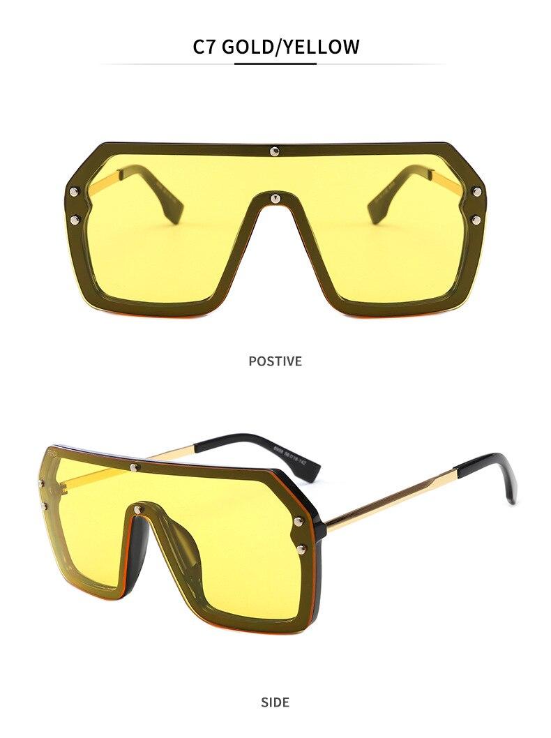 Luxury Brand Women's Sunglasses 2021 Trend One-Piece Lens Rimless Sunglass Female Designer Retro Sun Glasses For Women Gradient (13)