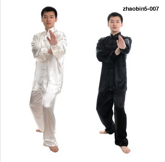 Children Clothing Cotton And Silk Middle-aged Men's Morning Exercise Tai Chi Martial Arts Wear Exercise Clothing Performance Wea