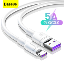 Baseus 5A USB Type C Cable For Huawei Mate 20 P20 P30 Pro Lite USB C Type-c Cable 2A For Samsung S10 S9 Oneplus 6t USB-C Charger