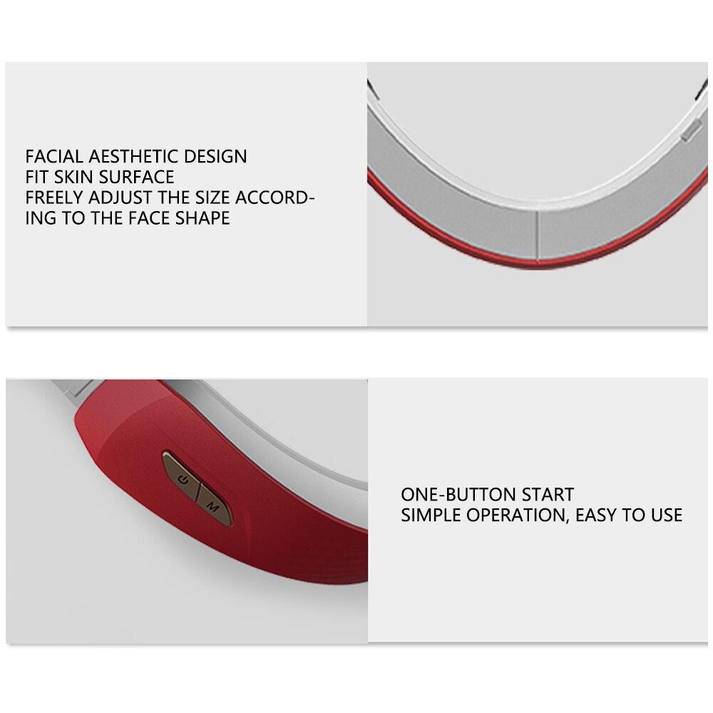 Купить подбородок v line up lift belt machine красный синий светодиодный