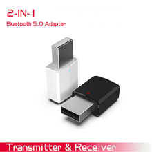 USB Bluetooth Audio Transmitter Adapter for PC,TV,Car Portable 2in1 5.0 Reciever For Speaker Headphone