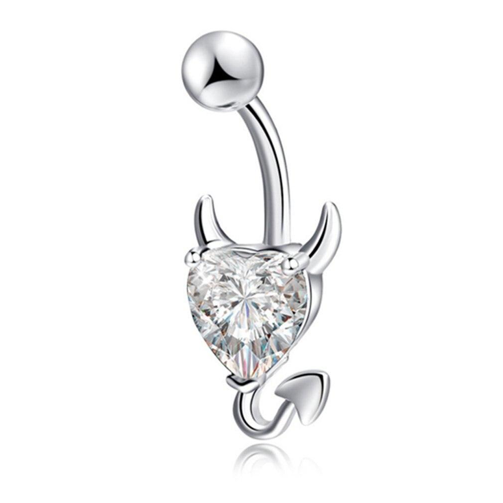 Q01591 Fashionable Crystal Rhinestone Body Piercing Jewelry Navel Rings Belly Piercing Kit