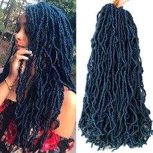 Mtmei длинные вьющиеся волосы, дредлоки, для увеличения объема, наращивание волос богиня искусственные локоны в стиле Crochet волосы синий микс З...