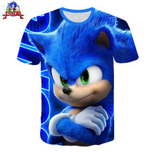 Детская футболка sonic the hedgehog 2020 с объемным рисунком