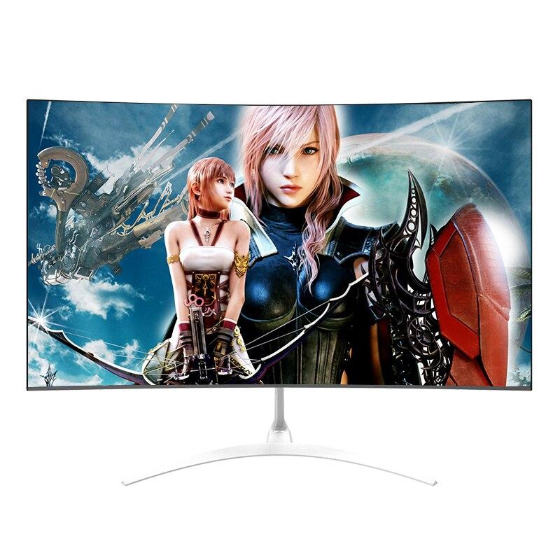 Anmite 27 polegadas tela cheia curvada display de alta definição e-sports quatro lados micro-borda lcd tela do computador