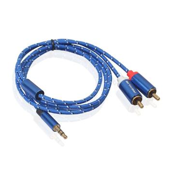 RCA Cable 2None to 3.5 Audio Cable None 3.5mm Jack None AUX Cable for Amplifier Headphone Speaker Y Splitter Cable Cord