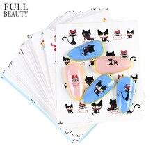 44 vellen Gemengde Kerst Sticker Nail Art Sticker Set Nail Decoraties Manicure Water Tips Winter Ontwerpen Nagel Folies CHNJ004