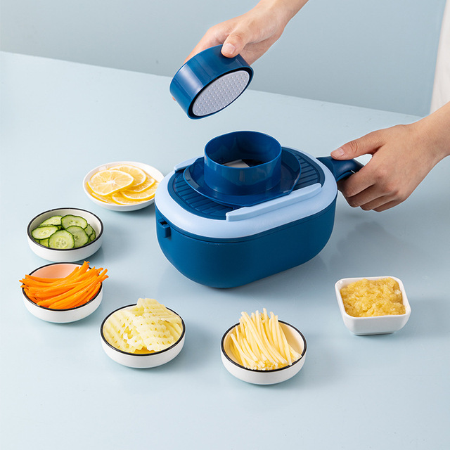 2021 Multifunctional Fruit And Vegetable Tools Cutter With Drain Basket Kitchen Appliances Tools Dining Bar Gadgets Accessories