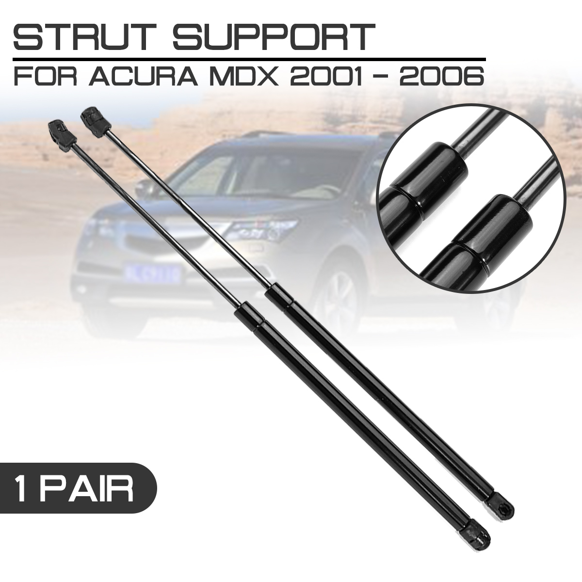 Car Interior Front Engine Cover Bonnet Hood Shock Lift Struts Bar Support Arm Gas For <font><b>Acura</b></font> <font><b>MDX</b></font> 2001 <font><b>2002</b></font> 2003 2004 2005 2006 image
