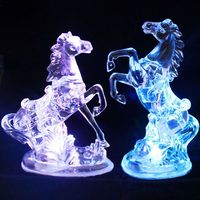 Horse Night Light 7 Colors Changing LED Nightlight Home Car Ornaments Party Wedding Holiday Decoration Lamp Children Gift Toy Li