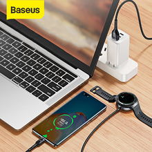 Baseus 40W 2 in 1 USB Type C Cable With Watch Charging Dock For Huawei P40 Watch GT Fast Charging Data Cable For Samsung Xiaomi