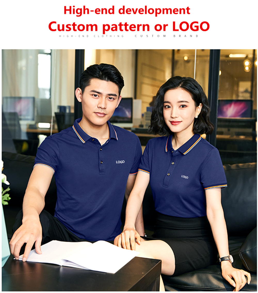 Custom T-Shirt DIY Corporate Advertising Cultural Shirt Work Clothes Short Sleeve Work Clothes Embroidery Custom Printed Logo