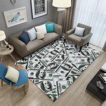 Miracille money доллар 3d ковры для гостиной коврик напольный