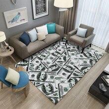 Miracille Money Dollar 3D Lounge Carpets Living Room Area Rug Floor Mat Bedside Hallway Kids Bedroom Carpet Home Decorations парогенератор tefal gv9071 pro express care